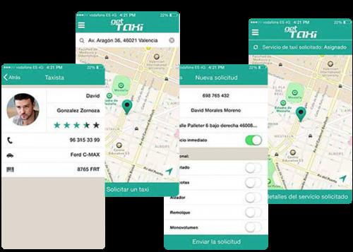 Personalización de Request taxi